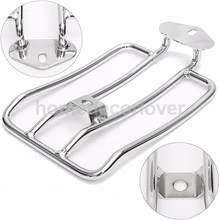 Motorcycle Silver Luggage Rack Shelf Tail Frame Carrier for Harley Solo Seat(China)