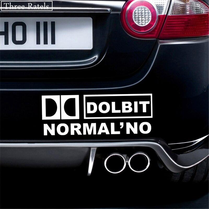 Image 5 - Three Ratels TZ 022 9.08*25cm 1 5 pieces DOLBIT NORMALNO car sticker car stickers-in Car Stickers from Automobiles & Motorcycles