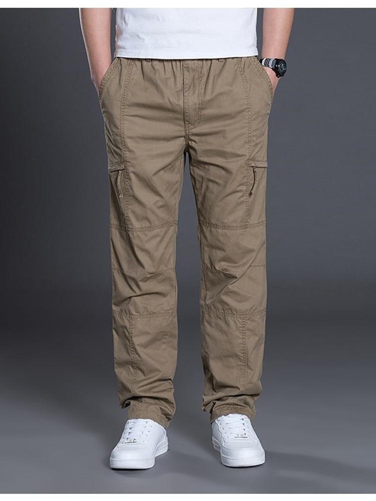 Men Pants Joggers Flat-Trousers Summer Cotton Fashion Straight Plus-Size Casual 5xl Autumn