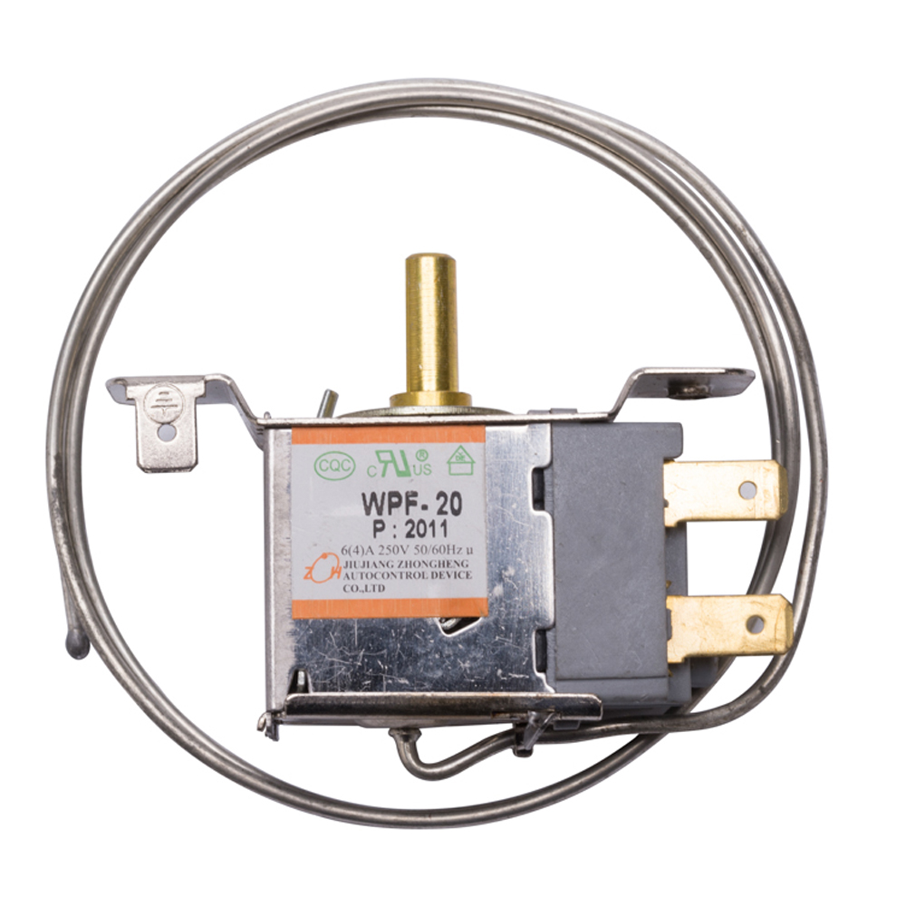 2 Pins Universal Refrigerator Thermostat 2 Feet 68mm Mechanical Temperature Control Switch Freezer Fridge Replacement Parts