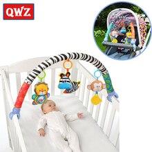 QWZ CALIENTE 1 unids Bebé Juguete de la Música Cama Colgando Bebé Elefante Azul Y Rosa Del Conejito y Cochecito de Bebé de Juguete Sonajero regalos