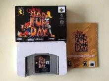 ¡Juegos de 64 bits ** Conkers Bad Fur Day (versión inglesa PAL! Caja + manual + cartucho)