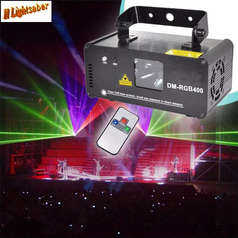 Remote RGB 400mw DMX512 Laser Line Scanner Stage Lighting Effect Projector Light DJ Dance Bar Xmas Party Disco Show Lights mon hot sale projector dj disco light mp3 remote stage party christmas laser lighting show