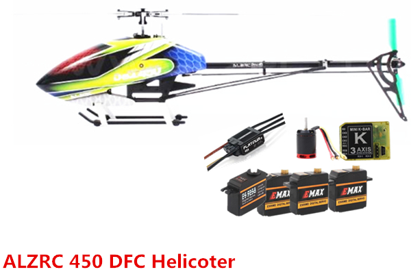 ALZRC - Devil 450 RIGID SDC/DFC Super Combo - Black 450 RC Helicopter alzrc devil 450 465 450l 480 rigid sdc dfc main rotor head set black
