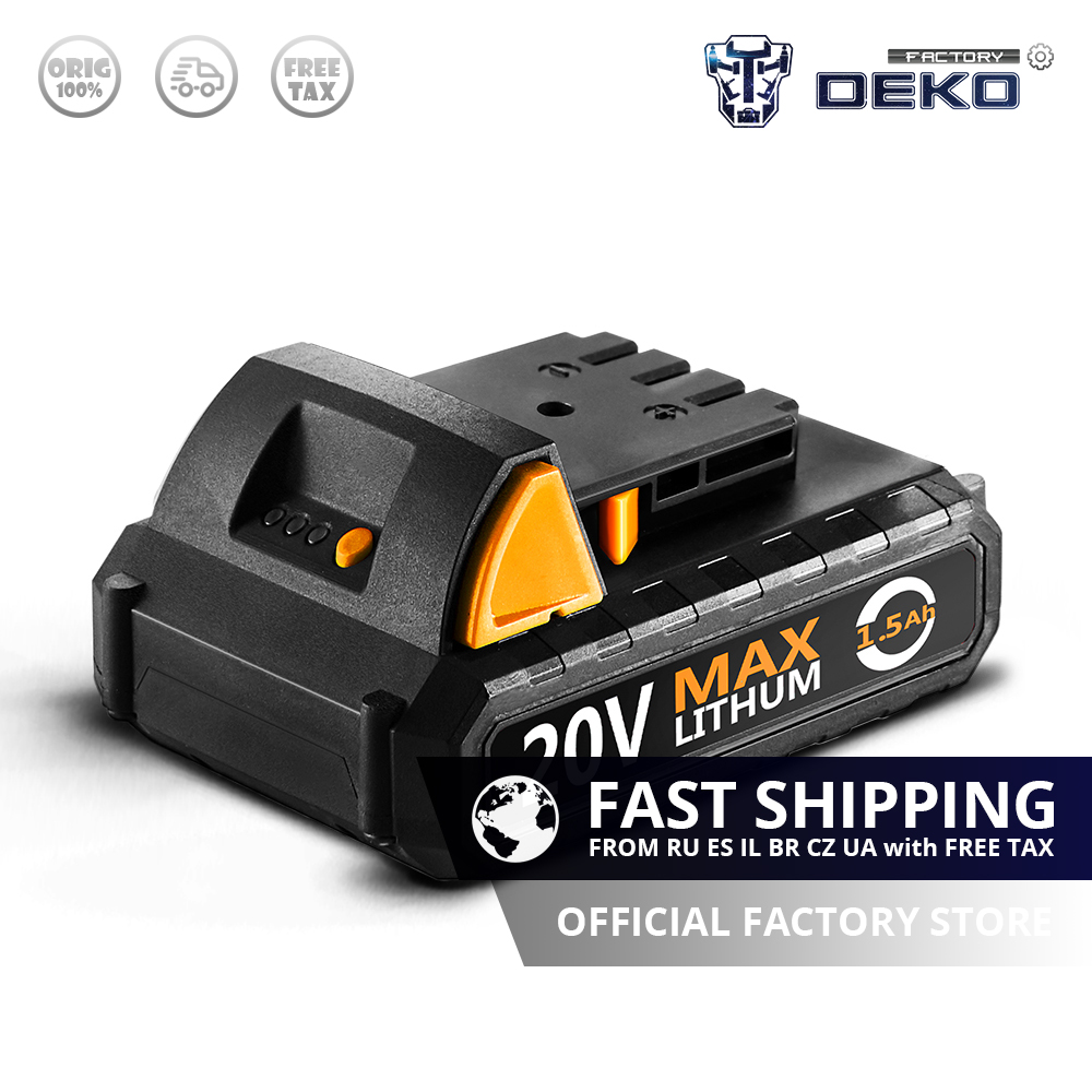 SPECIAL OFFER DEKO Battery20V Y 20V MAX 1500mAh Lithium Ion Battery Pack for GCD20DU2 Electric Drill