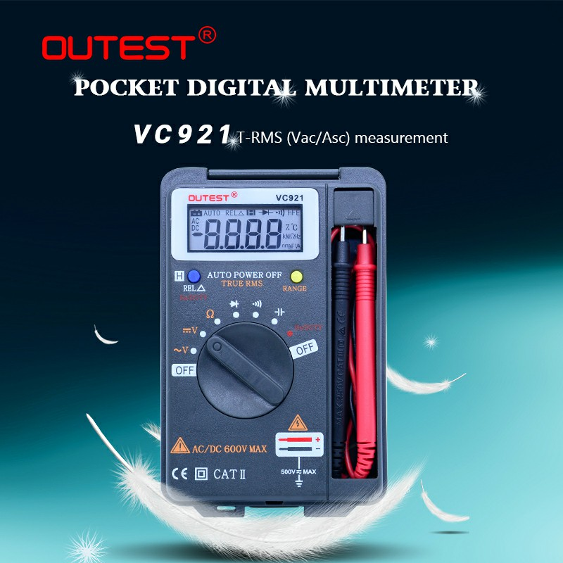OUTEST 3 3/4 Multitester VC921 3999 DMM VS VICTOR VC921 Mini Integrated Handheld Pocket Digital Frequency Multimeter цена 2017