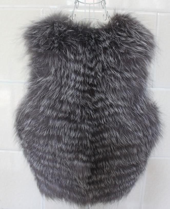 Automne Femmes Fourrure Chefs S Veste En Renard Nouvelle Gray xxxl Gilet Argent Et Avec Manteaux Hiver Taille Fox Grande rxwaOqA0rv