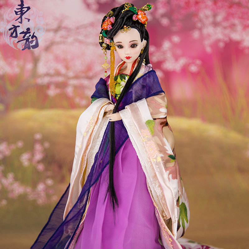 Free Shipping High-end Ancient Chinese Ethnic Dolls With 12 Joints Movable Collectible Bjd Doll Girls Toys Birthday Gifts 353 handmade ancient chinese dolls 1 6 bjd jointed doll empress zhao feiyan dolls girl toys birthday gifts