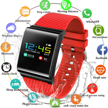 2019 New Smart Watch Fitness Tracker Smart Bracelet LED Color Screen Touch IP67 Waterproof Heart Rate Monitor For Android iOS цена 2017