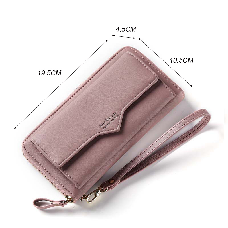 Women Wallets Women Purse Female Wallet Pu Leather Soft Long Wallets Chain Purse Large Capacity Luxury Brands Clutch Bags in Wallets from Luggage Bags