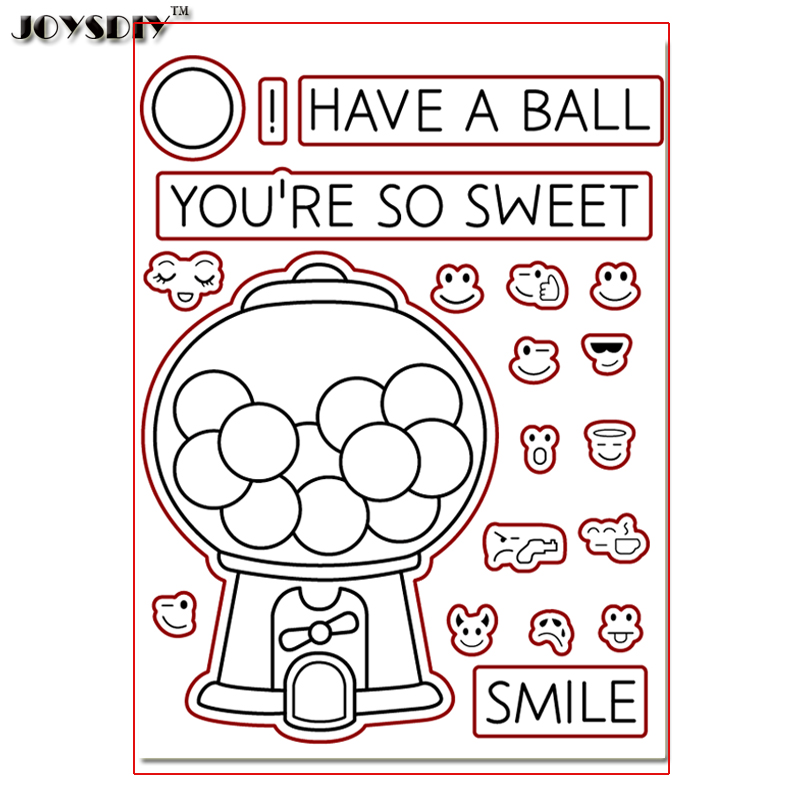HAVE A BALL YOU ARE SO SWEET Scrapbook DIY photo cards account rubber stamp clear stamp transparent stamp Handmade card stamp thank you my friend you are the best scrapbook clear stamp photo cards account rubber stamp embossing folder card stamp