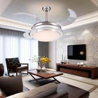 Invisible Stealth fan ceiling fan light minimalist restaurant lights bedroom fan fan 36 inch LED chandelier wall control