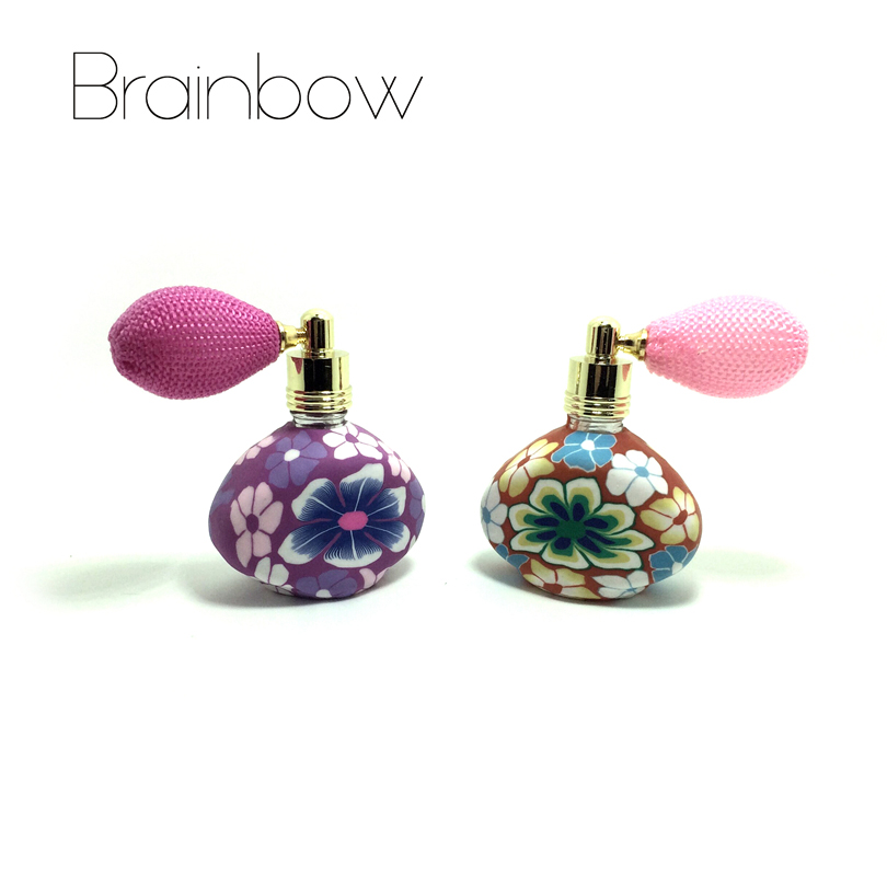Brainbow 15ml Balloon Perfume Bottles Empty Refillable Bottle Atomizer Spray Polymer Clay Spray Scent Pump Case Travel Portable