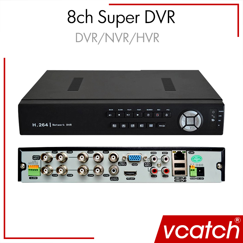 Vcatch Cctv Dvr 8 Channel Onvif 8ch 1080n H 264 Super Ahd