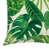 Cotton Linen Tree Leaves Plant Digital Printing Pillow Case Throw Pillow Case Cover 45x45cm Chair Cushion