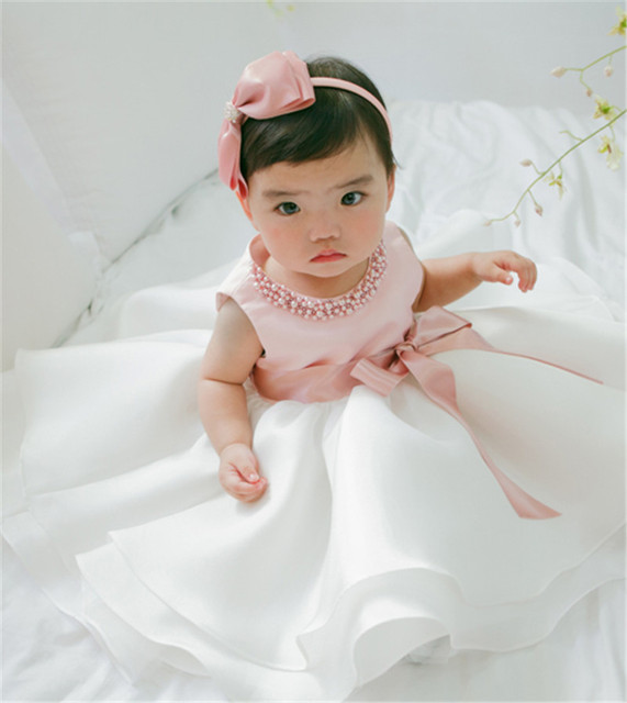 Baby Girl Christening Dress Vestido Toddler Girl Clothes Newborn Baby Dress For Baptism 1st 2nd Birthday Dress Girl Party Wear
