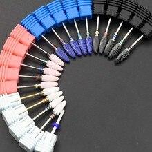 Керамические фрезы для ногтей Jewhiteny, фрезы для маникюра, аксессуары для маникюрного станка, роторные сверла, электрические пилки для ногтей, инструменты для дизайна ногтей