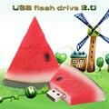 Venta caliente de la Fruta de la Sandía USB Flash Drive de la Historieta Pendrive Capacidad Real Regalo Pen Drive USB Stick 32 GB USB Flash F ree Envío