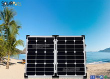 Foldable high efficiency1x60W solar panel kit charge battery directly usb mobile phones and digital camera golf car outdoor use