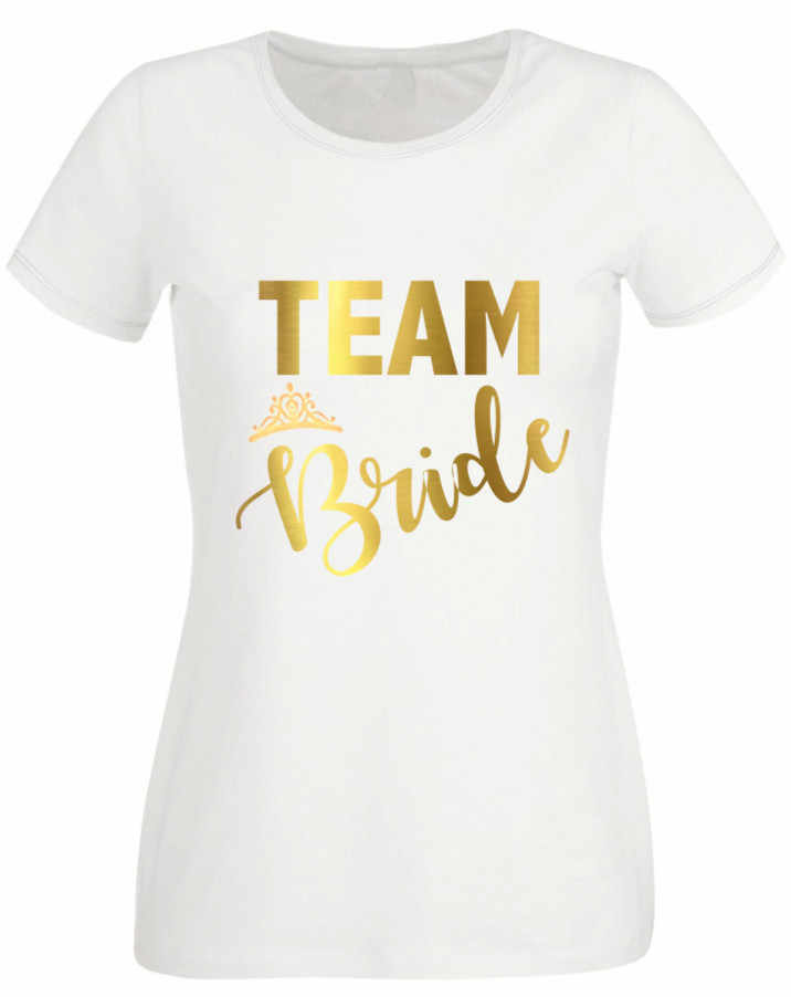 708a07c717 Women Tops HEN PARTY T-SHIRT WHITE FITTED TOP TEAM BRIDE OPTION TO  PERSONALISE GOLD TEXT Wedding Gifts Dropshipping
