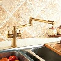 Fashion Europe Style Total Brass Black Oil Brushed Kitchen Faucet Swivel Kitchen Mixer Tap Sink Tap