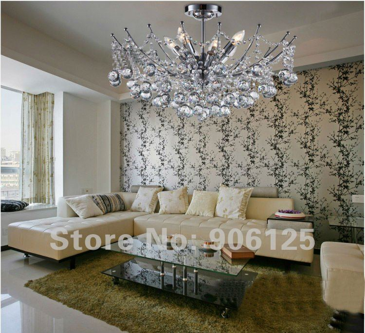 Hot Selling Modern Crystal Chandelier Light Fixture Chrome Crystal