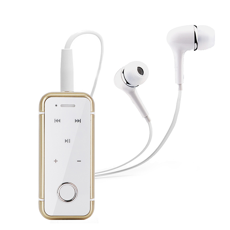 ANBES Lavalier Mini Clip Bluetooth Headset Stereo Music Wireless Headphone Earphone Clamp Collar with Mic For Xiaomi iPhone PC music clip staff page clip with music pattern