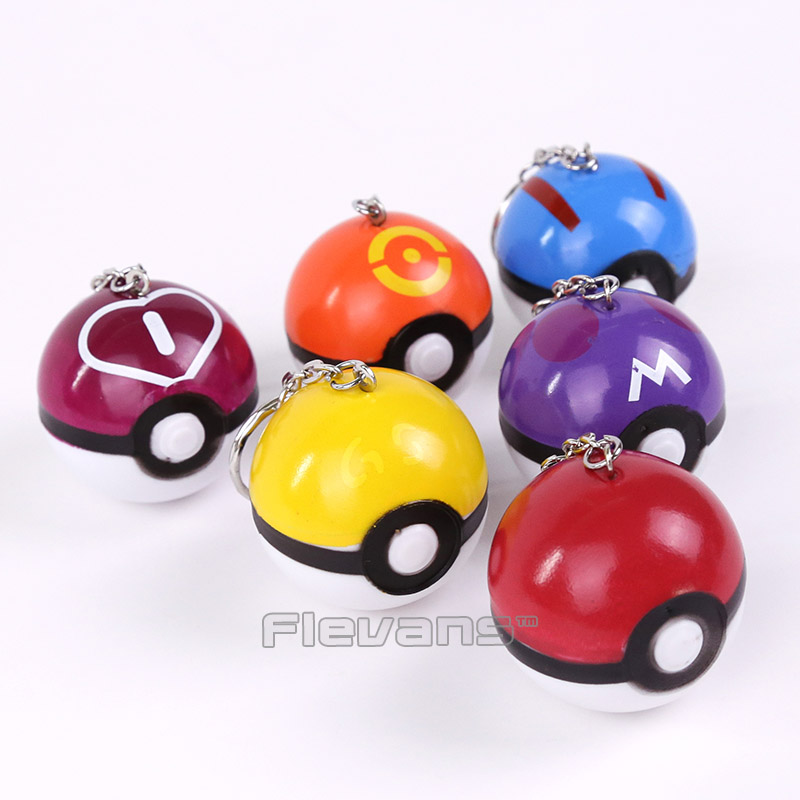 Monsters <font><b>Go</b></font> <font><b>Poke</b></font> Ball / Master / Great / <font><b>Love</b></font> / Ball <font><b>PVC</b></font> Figures with keychain Pendants Kids <font><b>Toys</b></font> Gifts 6pcs/<font><b>lot</b></font> 4.5cm