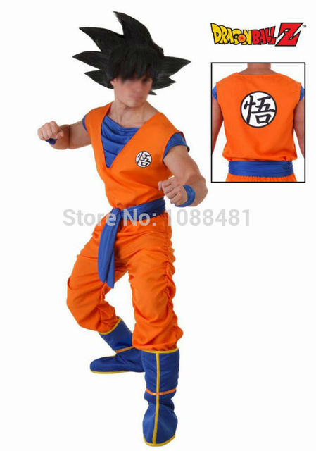 Dragon Ball Z costume Fils Goku Cosplay Costumes  Top/Pantalon/Ceinture/Queue/