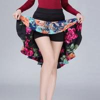 Women Latin Dance Skirt For Girls Children Kids Latin Dance Dress Patterns Unequal Practice Ballroom Tango Salsa Dancing Skirt