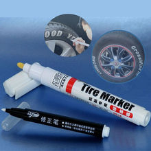 2Sets White Color Car Tire Pens Motorcycle Auto Waterproof Tyre Tire Care Tread Rubber Paint Marker Car Styling