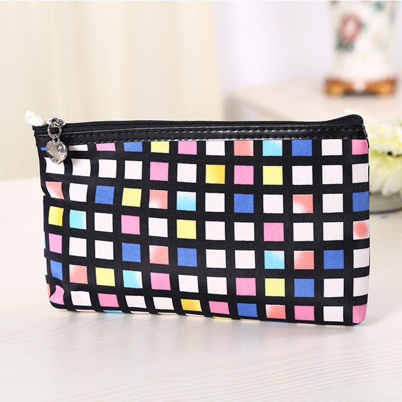 New Women's Cute Cosmetic Coin Cellphone Makeup Pouch Bag Purse Wallet Pencil Shape Pen Case Cosmetic Makeup  Bag Zipper  Purse cartoon cosmetics bag pokemon go gravity purse bag received wallet makeup pencil pen case bag zelda pokemon ball purse bag wt004