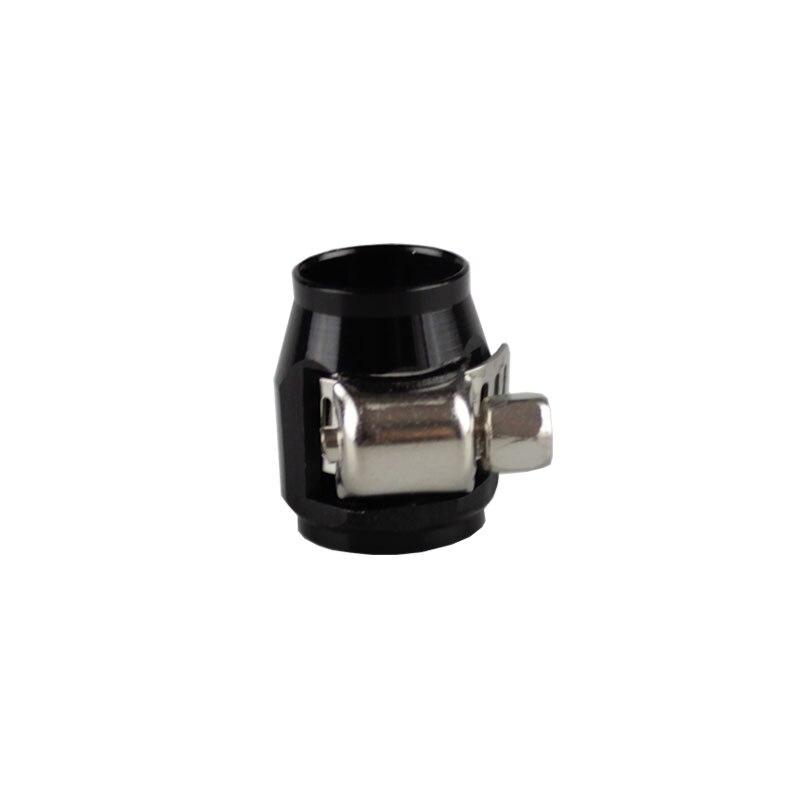 Rastp-красочные применяются к AN8 масляные зажимы для топливного шланга концевые Отделители Алюминиевый шланг соединитель для шланга зажимы RS-TC008-AN8 - Цвет: Black