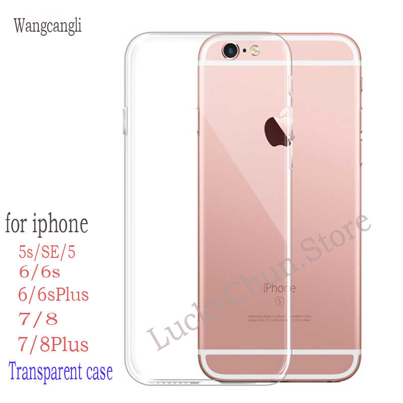 online store bed4e e3a9b Phone Cases For iPhone 5 5S SE 6 6s 7 8 X Case Soft Transparent Silicone  Clear Case Back Cover For iPhone 6 6s 7 8 Plus Case
