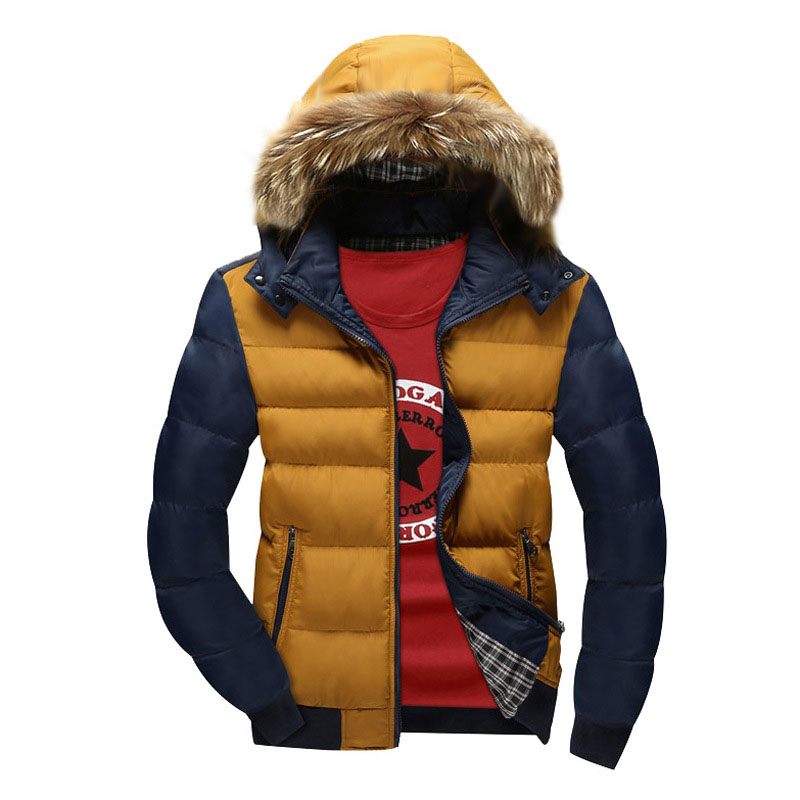 Winter Jacket Men Warm With Fur Hooded Parka Men Thick Cotton Padded Coat Parka Outwear Male Clothing Casual