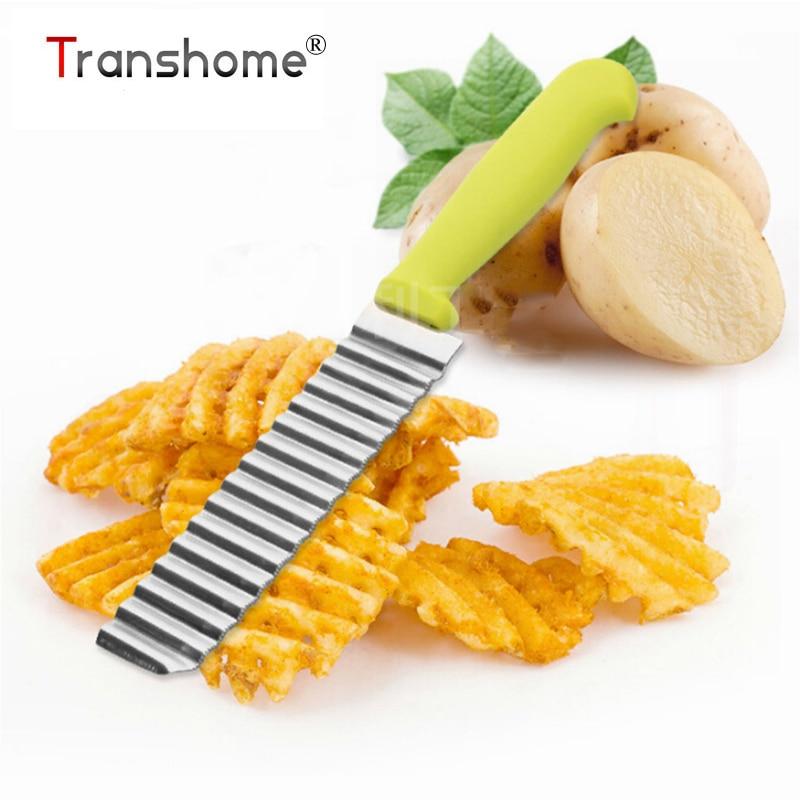 New Potato Chips di Patatine In Acciaio Inox Ondulata Pasta Verdure Crinkle Slicer Coltello Ondulato Coltello Accessori Da Cucina