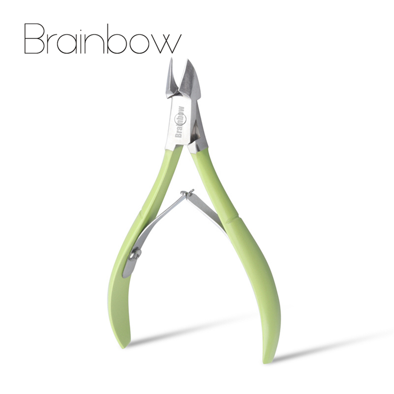 все цены на Brainbow 1pc Nail Cuticle Scissors Stainless Steel Fingernail Toenail Manicure Scissor Nail Clipper Cutter Trimmer Pedicure Tool онлайн