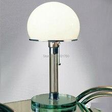 WG24 Bauhaus Lamp table lamp designed by Wilhelm Wagenfeld modern Bauhaus desk lamp glass base table lighting