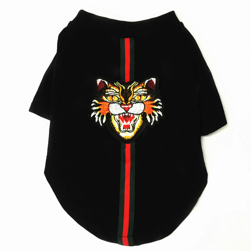 Luxury designer with embroidered tiger head and braided sweater for spring and autumn T shirt small