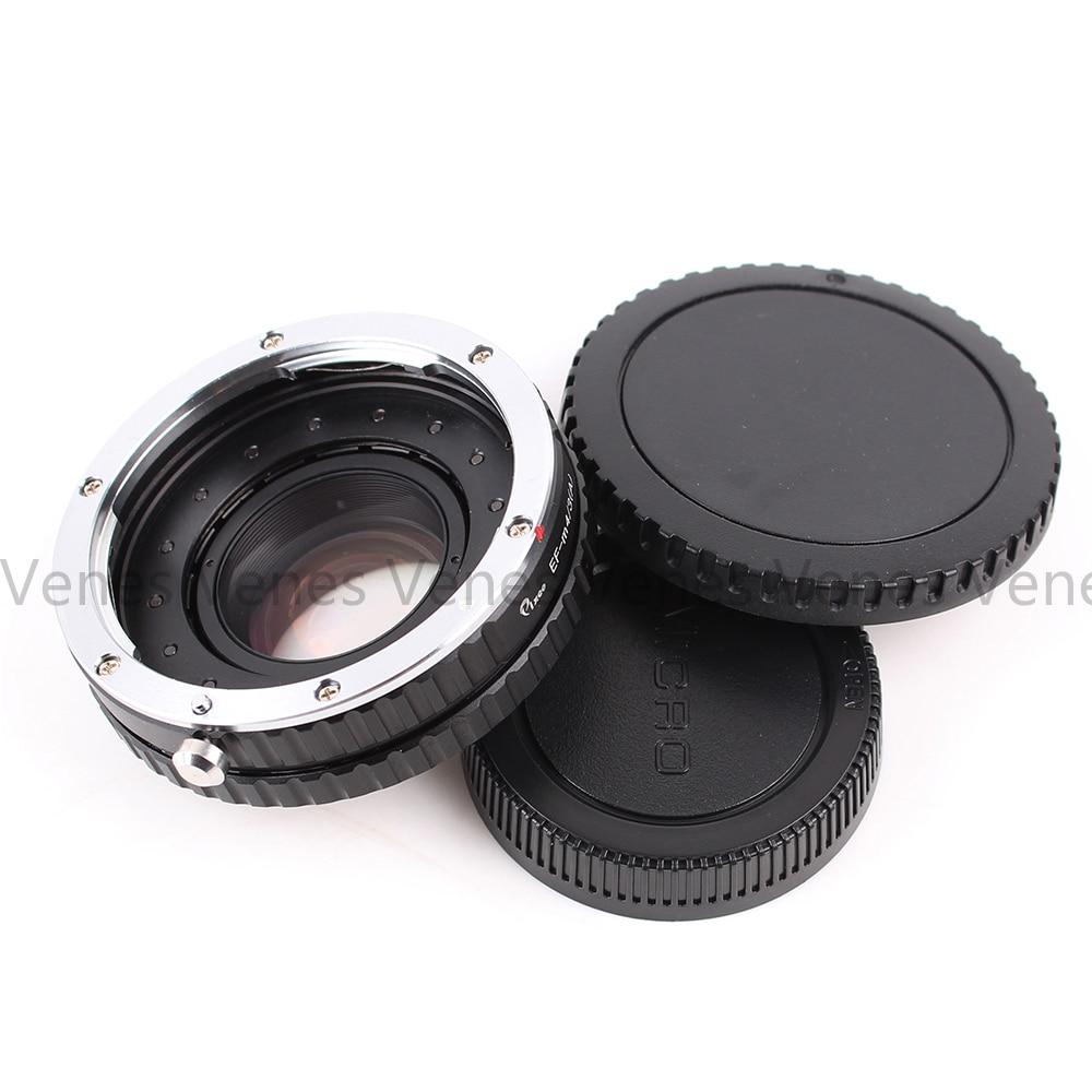 VENES EF 렌즈 - M4 / 3 용 Focal Reducer Speed Booster, Micro Four Thirds 4/3 카메라 용 어댑터 링, Panasonic LUMIX GX9 GX8 용