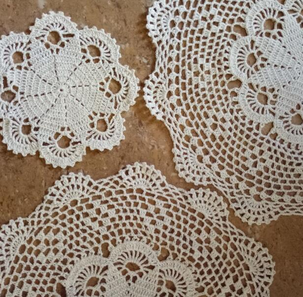 Kitchen,dining & Bar New Cotton Table Place Mat Pad Cloth Lace Crochet Dish Placemat Cup Mug Christmas Tea Coffee Coaster Dining Drink Doily Kitchen