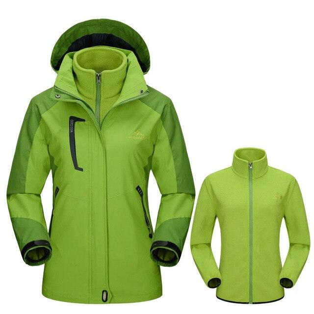 259acdec16f71 US $111.0 |Winter Women Softshell Jackets Outdoor Inside Fleece Jacket  Windproof Waterproof Thermal Coats For Ski Hiking Camping Trek VB005-in  Hiking ...