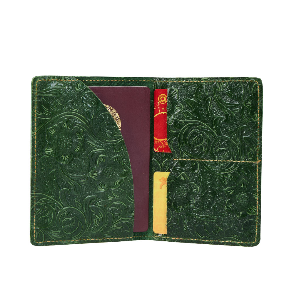 K018-Women Passport Cover Purse-Green-03(8)