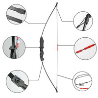 15lbs Archery Kids Recurve Bow Children's Bow and Arrow Training Pratice Hunting Game Bow for Shooting