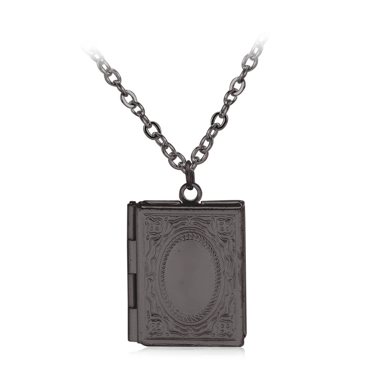 Five colors vintage classic book locket necklace secret message five colors vintage classic book locket necklace secret message hiding place photo locket necklace pendant jewelry photos box in chain necklaces from aloadofball Choice Image