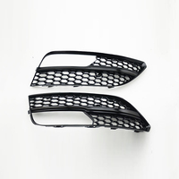 ABS RS3 Style Black Fog lamp Grill Cover trim For Audi A3 Standard SPORTBACK bumper 2014~2015