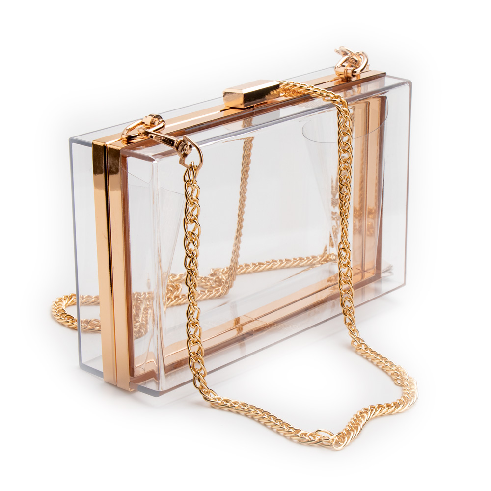 Women Acrylic Clear Purse Cute Transparent Crossbody Bag Lucite See Through Handbags Evening Clutch Events Stadium Approved(China)