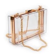 82e00566ef12 Las mujeres acrílico claro monedero lindo monedero transparente bolso de  Lucite ver a través de bolsos
