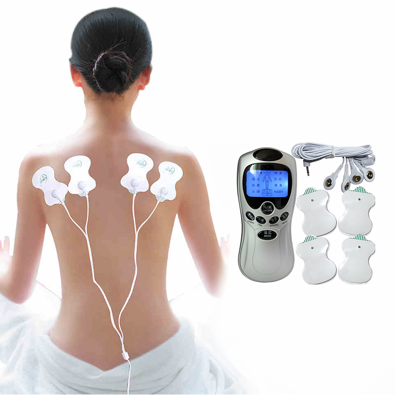 Full Body Massager Slimming Massage Electric Slim Pulse Muscle Acupuncture Therapeutic Equipment Massagem Tools Free Shipping dual output ems digital massager 8 pads pulse slimming muscle relax massage electric slim full body massager