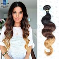 Brazilian Body Wave 4 Bundle Deals 12-28 inch T 1b 4 27 Ombre Human Hair Grade 8A Ombre Hair Extensions Meches Bresilienne Lots